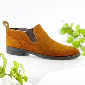 Bacco Bucci Chelsea Boot Pull On Suede Cinnamon